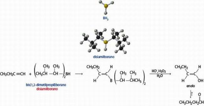 Se l'alchino è terminale si formano le aldeidi