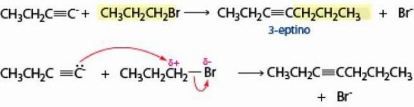 Gli ioni acetiluro sono nucleofili al carbonio e molto utili per formare nuovi legami C-C