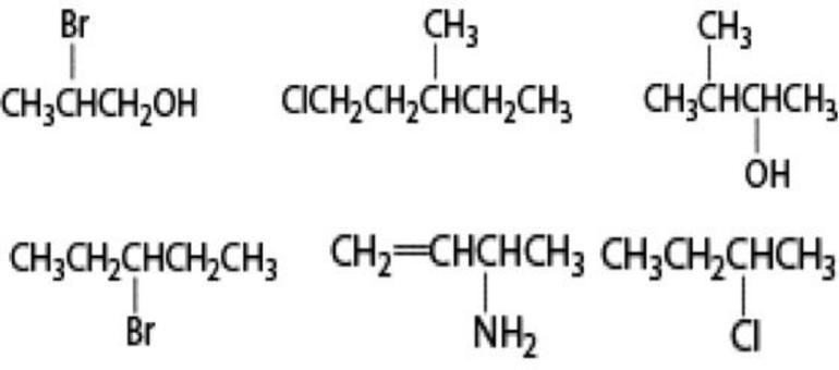 Prova ad esercitarti: quale dei seguenti composti presenta carboni asimmetrici?