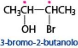Una molecola con 2 carboni asimmetrici