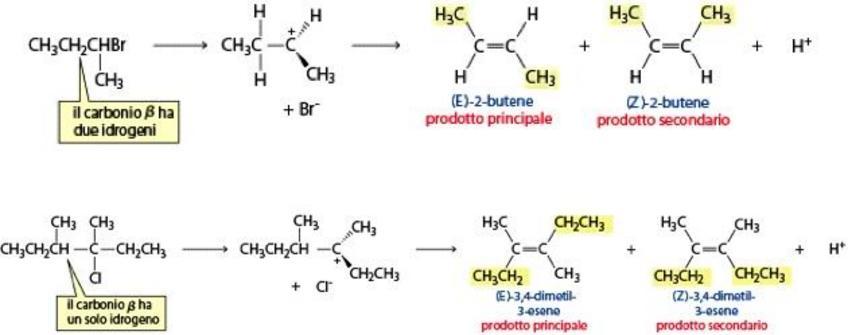 Si forma preferenzialmente l'alchene E