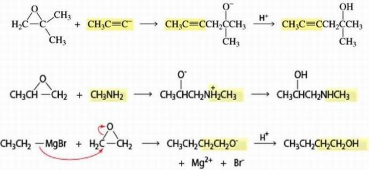 Gli epossidi sono utili reattivi in sintesi organica perché possono reagire con un ampia gamma di nucleofili