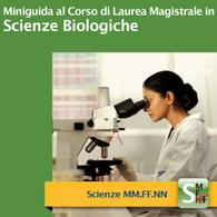 Corso di Laurea Magistrale in Scienze Biologiche