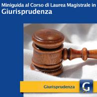 Corso di Laurea Magistrale in Giurisprudenza