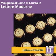 Corso di Laurea in Lettere Moderne