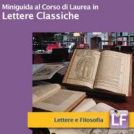 Corso di Laurea in Lettere Classiche