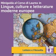 Corso di Laurea in Lingue Culture e Letterature moderne europee