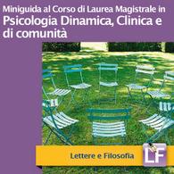 Corso di Laurea Magistrale in Psicologia Dinamica, Clinica e di Comunità