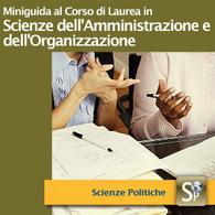Corso di Laurea in Scienze dell'Amministrazione e dell'Organizzazione