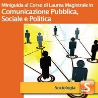 Corso di Laurea Magistrale in Comunicazione Pubblica, Sociale e Politica