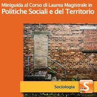 Corso di Laurea Magistrale in Politiche Sociali e del Territorio