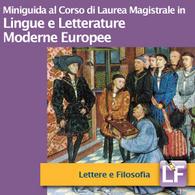 Corso di Laurea Magistrale in Lingue e Letterature Moderne Europee