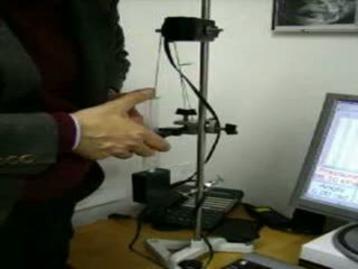 Realizzazione di una compressione isoterma con l'apparato di misura precedentemente descritto.