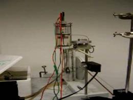 La macchina di Stirling in funzione..